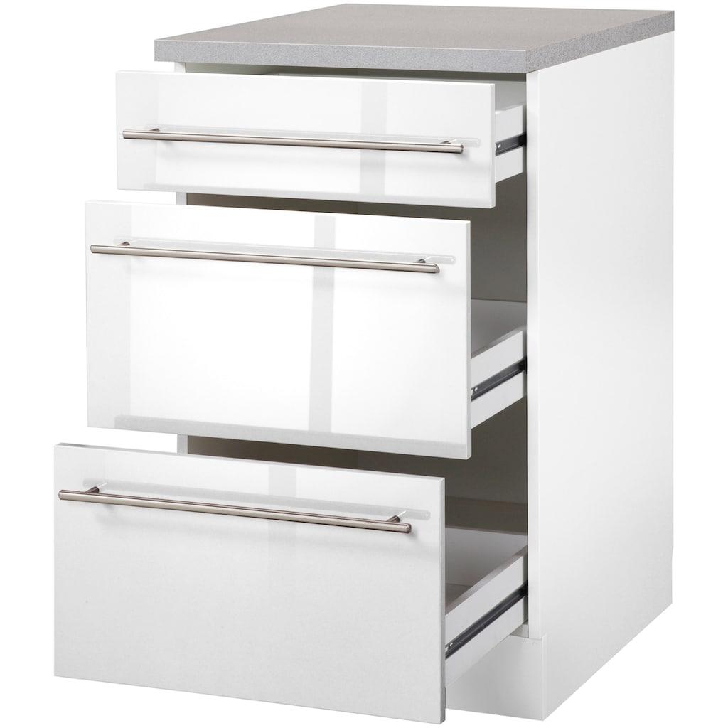 wiho Küchen Unterschrank »Chicago«, 50 cm breit mit 2 Auszügen