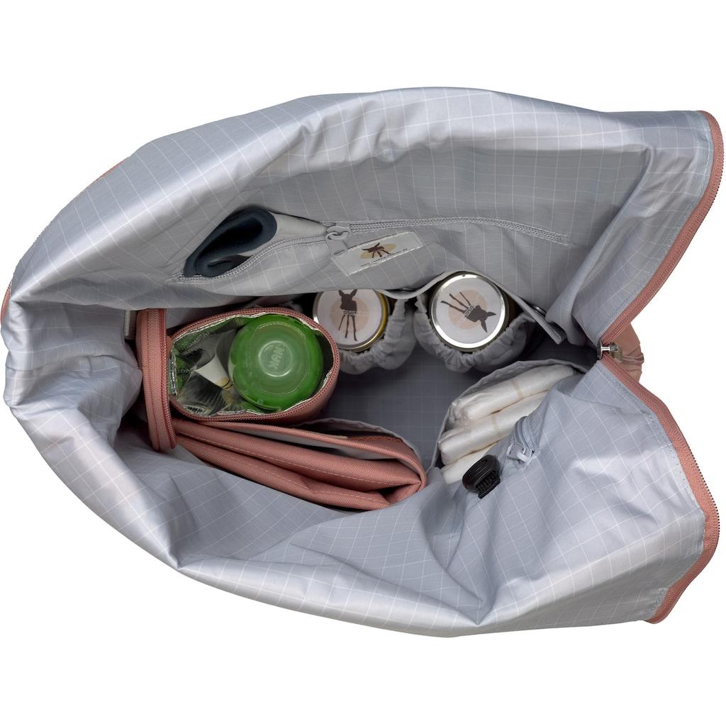 LÄSSIG Wickelrucksack »Green Label, Rolltop, cinnamon«, PETA-approved vegan; zum Teil aus recycelten Material