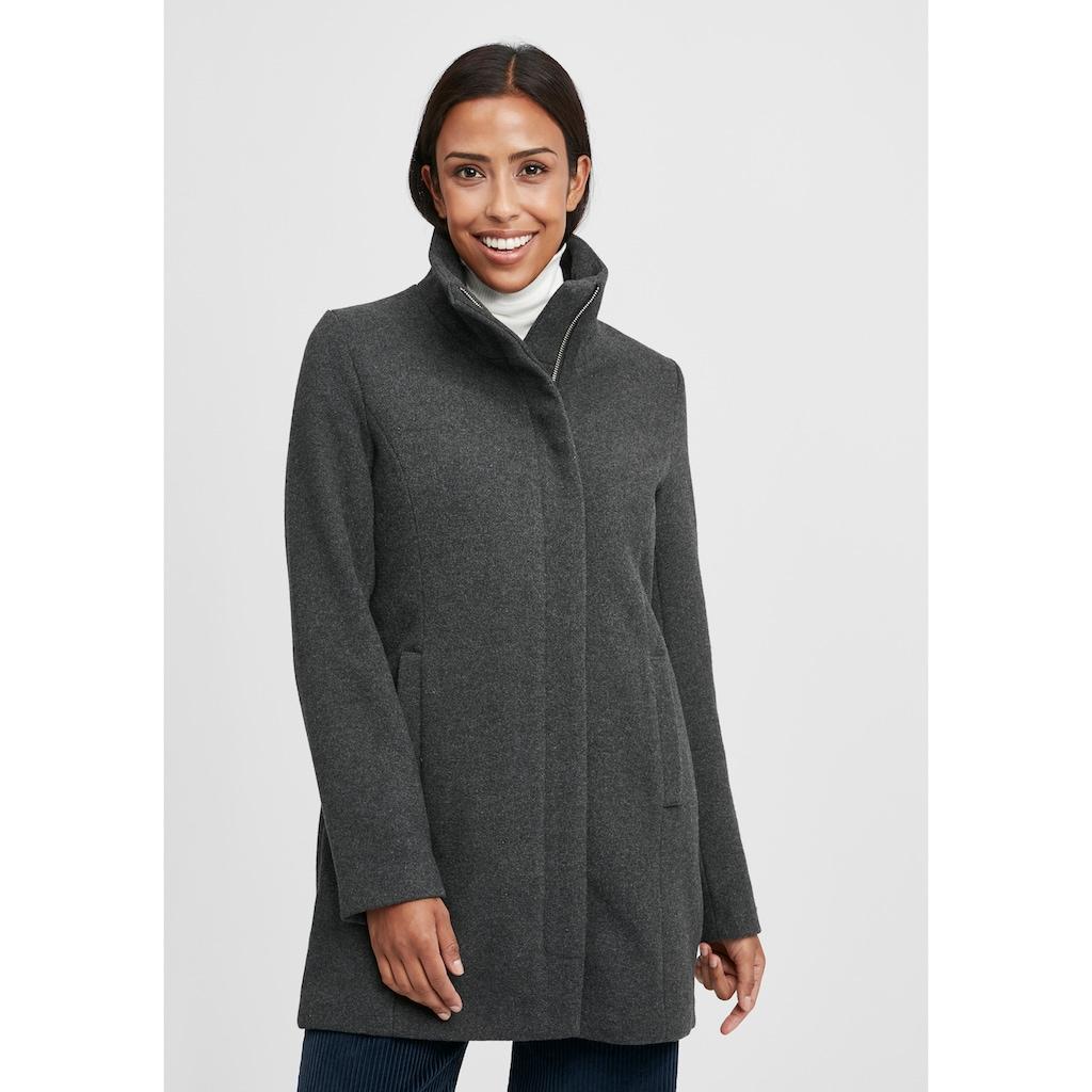 OXMO Wollmantel »Wolke«, Mantel mit hohem Kragen