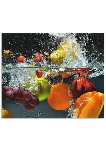"""Artland Küchenrückwand """"Spritzendes Obst auf dem Wasser"""", (1 - tlg.) kaufen"""