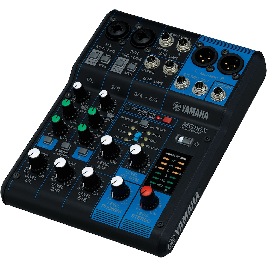 Yamaha Mischpult »Mixing Console MG06X«, 6-Kanal