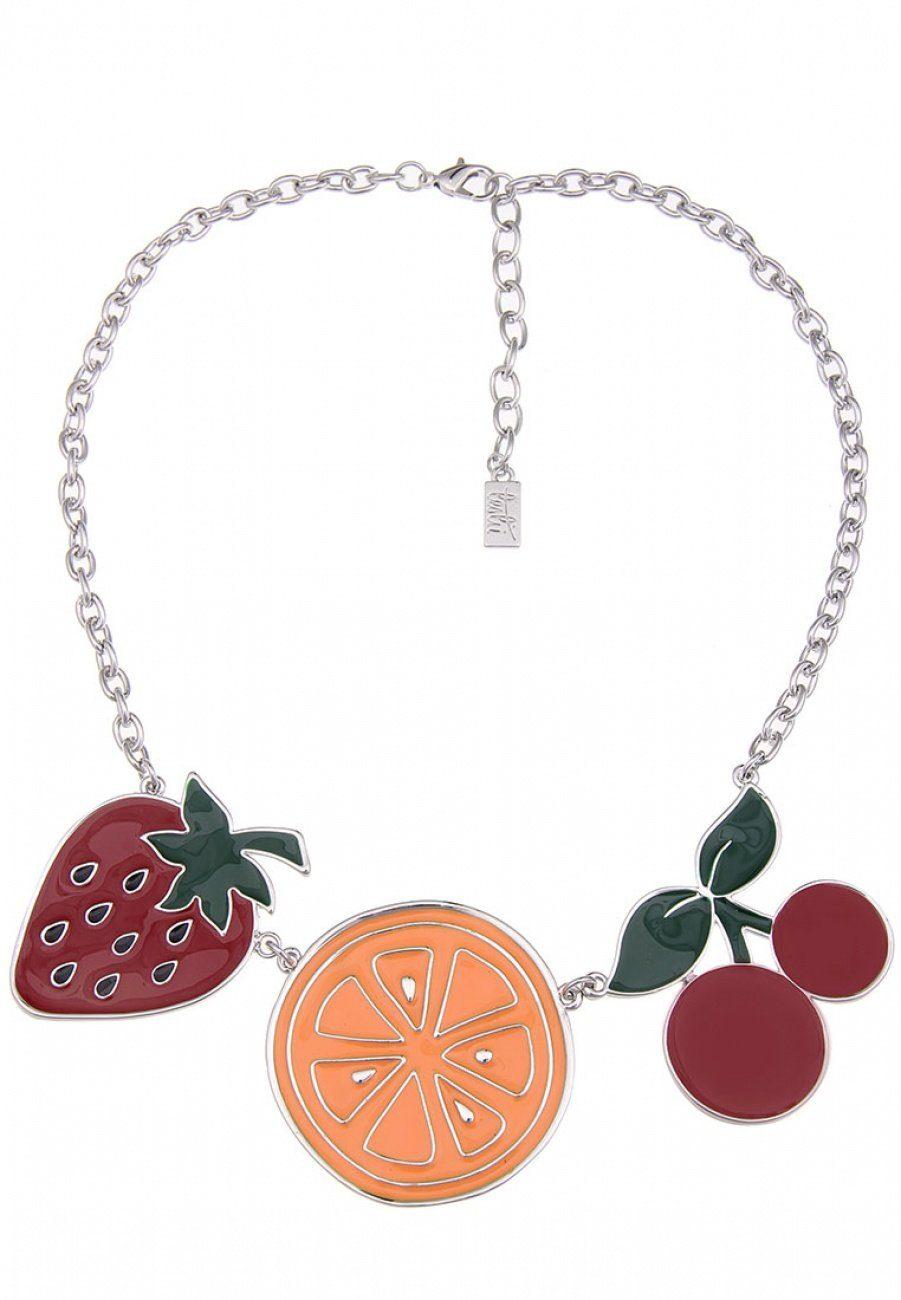leslii Statement-Kette mit Früchteanhängern | Schmuck > Halsketten > Statementketten | Leslii