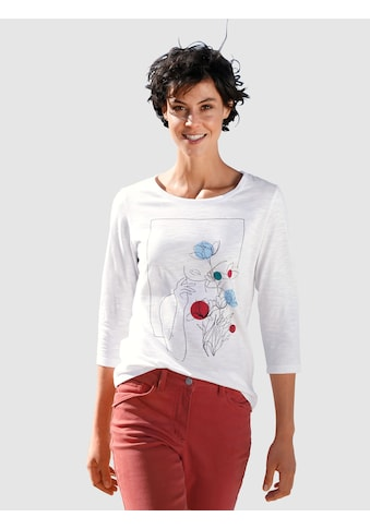 Dress In Print-Shirt, mit modernem Frontprint kaufen