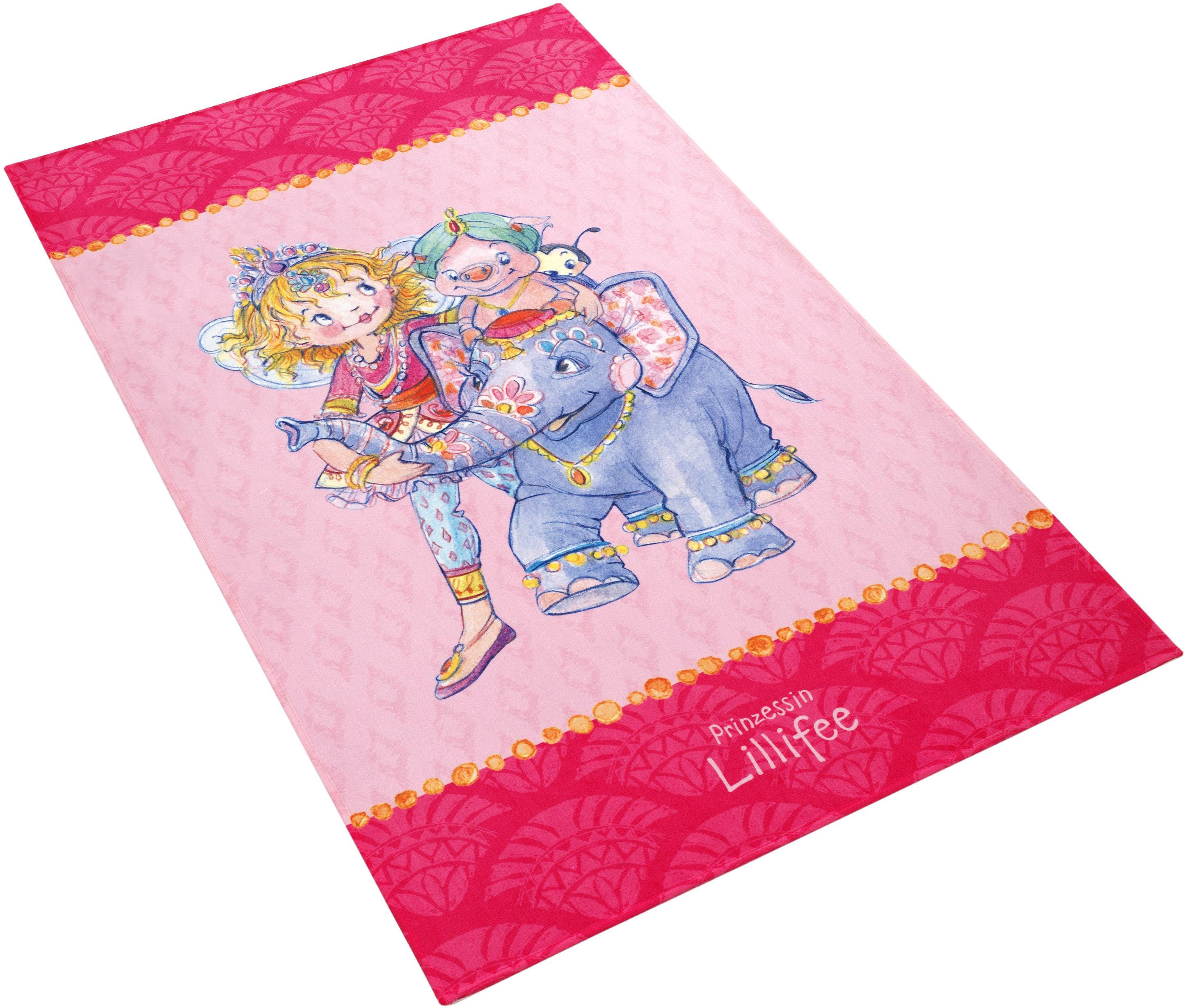 Kinderteppich LI-111 Prinzessin Lillifee rechteckig Höhe 6 mm gedruckt