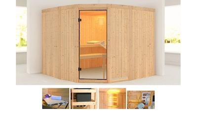 KONIFERA Sauna »Horsta 3«, 231x231x198 cm, ohne Ofen kaufen