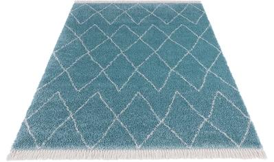 MINT RUGS Hochflor-Teppich »Jade«, rechteckig, 35 mm Höhe, pastell Farben mit Fransen, Wohnzimmer kaufen