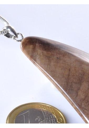 Adelia´s Kettenanhänger »Versteinertes Holz Anhänger 925 Silber« kaufen