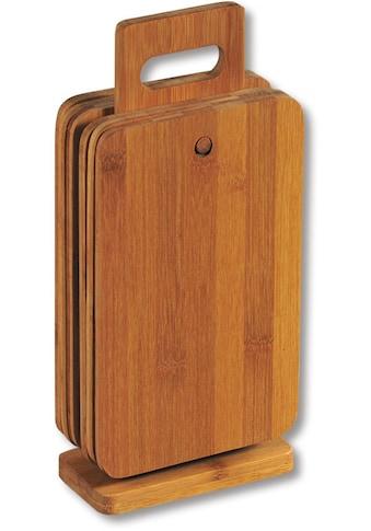 KESPER for kitchen & home Frühstücksbrett Bambus, (Set, 6 - tlg.) kaufen