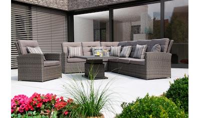 SIENA GARDEN Gartenmöbelset »Porto Casual«, 24 - tlg., Alu/Polyrattan, 2 Sofa, Ecke, Mitte, Tisch kaufen