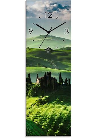 Artland Wanduhr »Sonnenaufgang über einer Olivenfarm«, lautlos, ohne Tickgeräusche,... kaufen