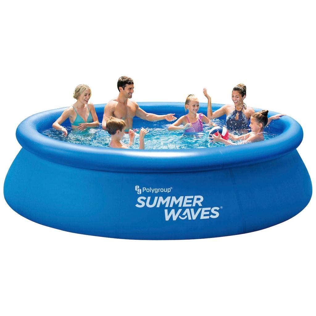 SummerWaves Rundpool, (Set, 3 tlg.), ØxH: 366x76 cm