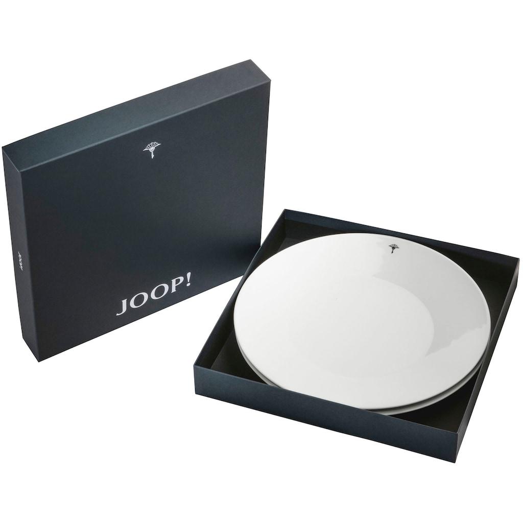 Joop! Speiseteller »JOOP! SINGLE CORNFLOWER«, (Set, 2 St.), hochwertiges Porzellan mit einzelner Kornblume als Dekor, Ø 28 cm