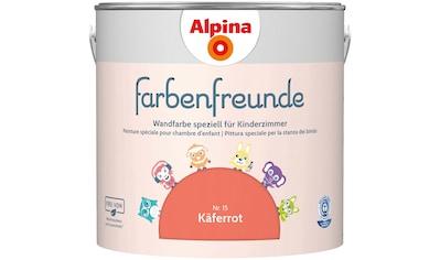 ALPINA Wand -  und Deckenfarbe »Farbenfreunde«, Käferrot 2,5 l kaufen