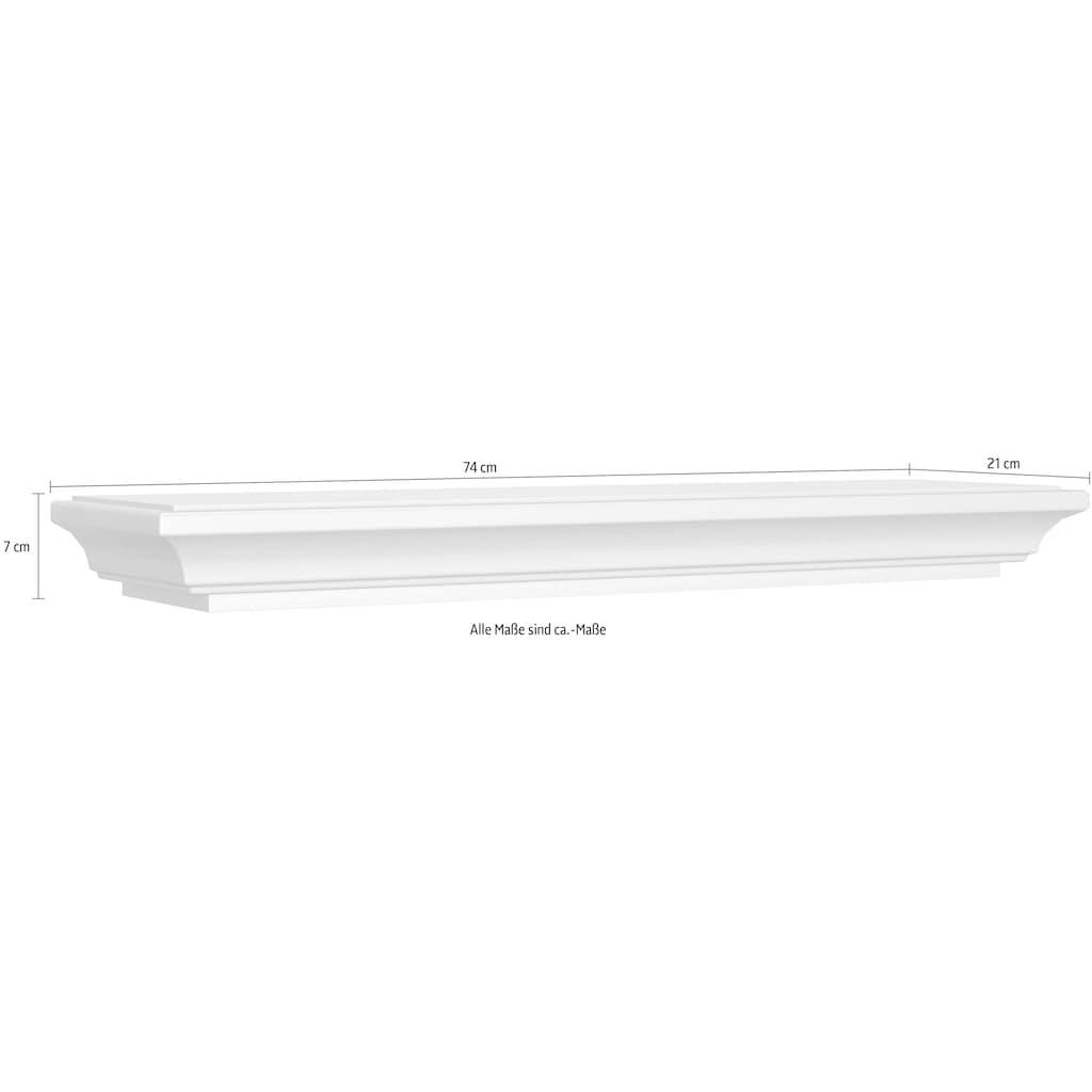 WEHRSDORFER Wandregal »Maisonette«, mit schönen Fräsungen, Breite 74 cm