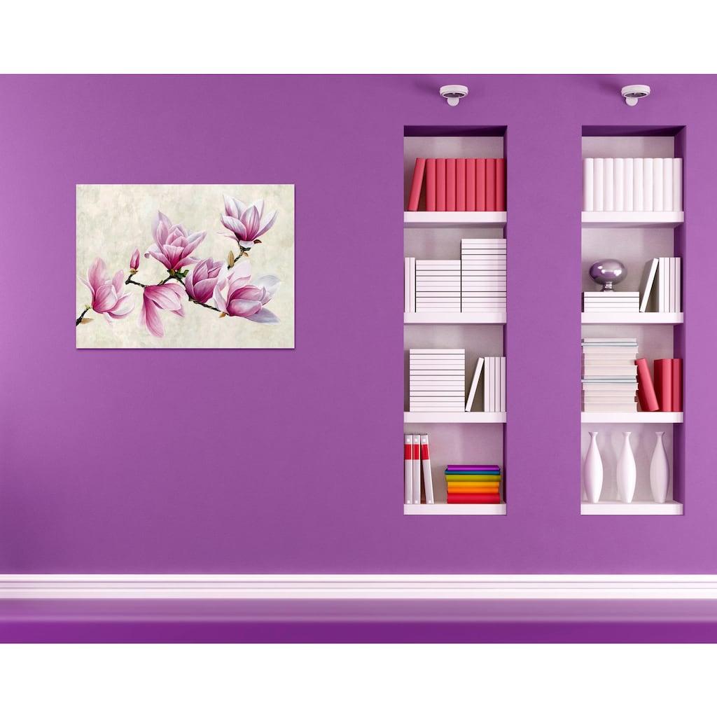 Home affaire Deco-Panel »LUCA VILLA / Ramo di Magnolia«, 80/60 cm