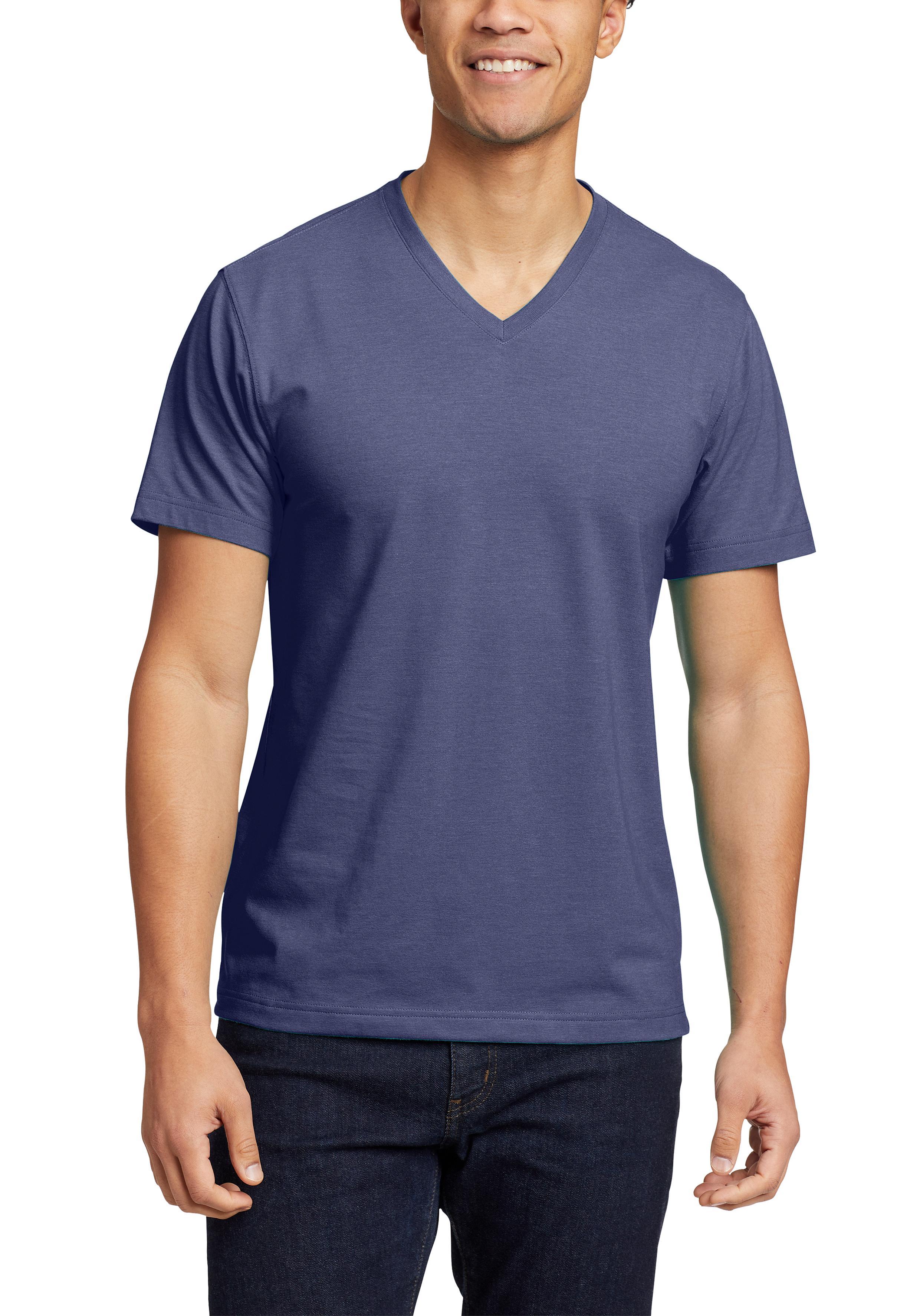 eddie bauer -  T-Shirt, Legend Wash Pro - Kurzarm mit V-Ausschnitt