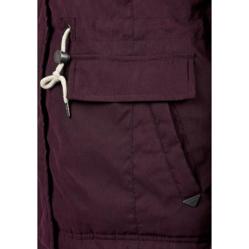 Vero Moda Parka »Fura«, warme Jacke mit abnehmbarem Kunstfellkragen
