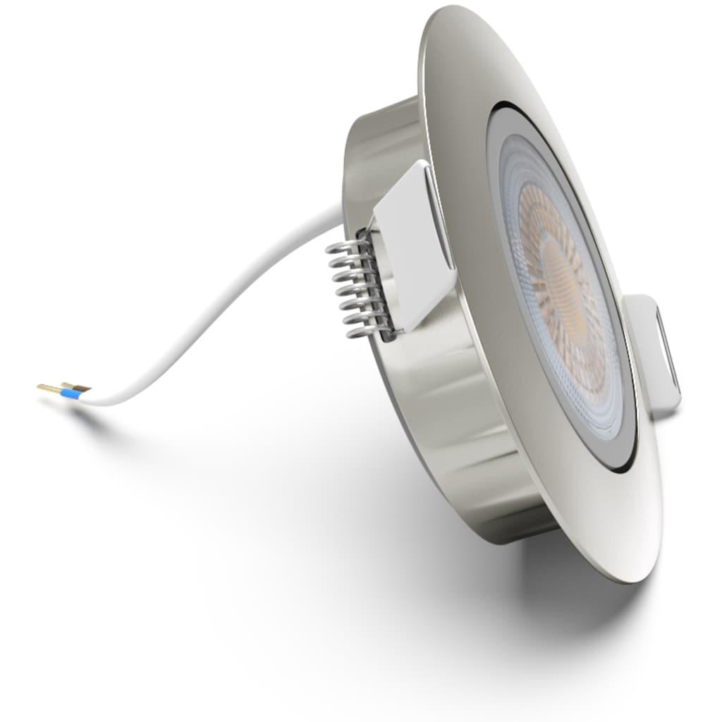B.K.Licht LED Einbauleuchte »Volantis«, LED-Board, Warmweiß, LED Einbaustrahler Spots Einbauspots Deckenleuchten inkl.5W 450lm SET
