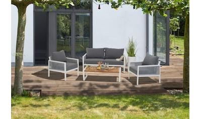 Siena Garden Loungeset »Varina«, (1x Lounge 3er Sofa, 2x Loungesessel, 1x Loungetisch) kaufen