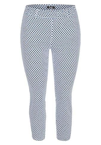 FRAPP Moderne Hose mit Allover - Muster kaufen