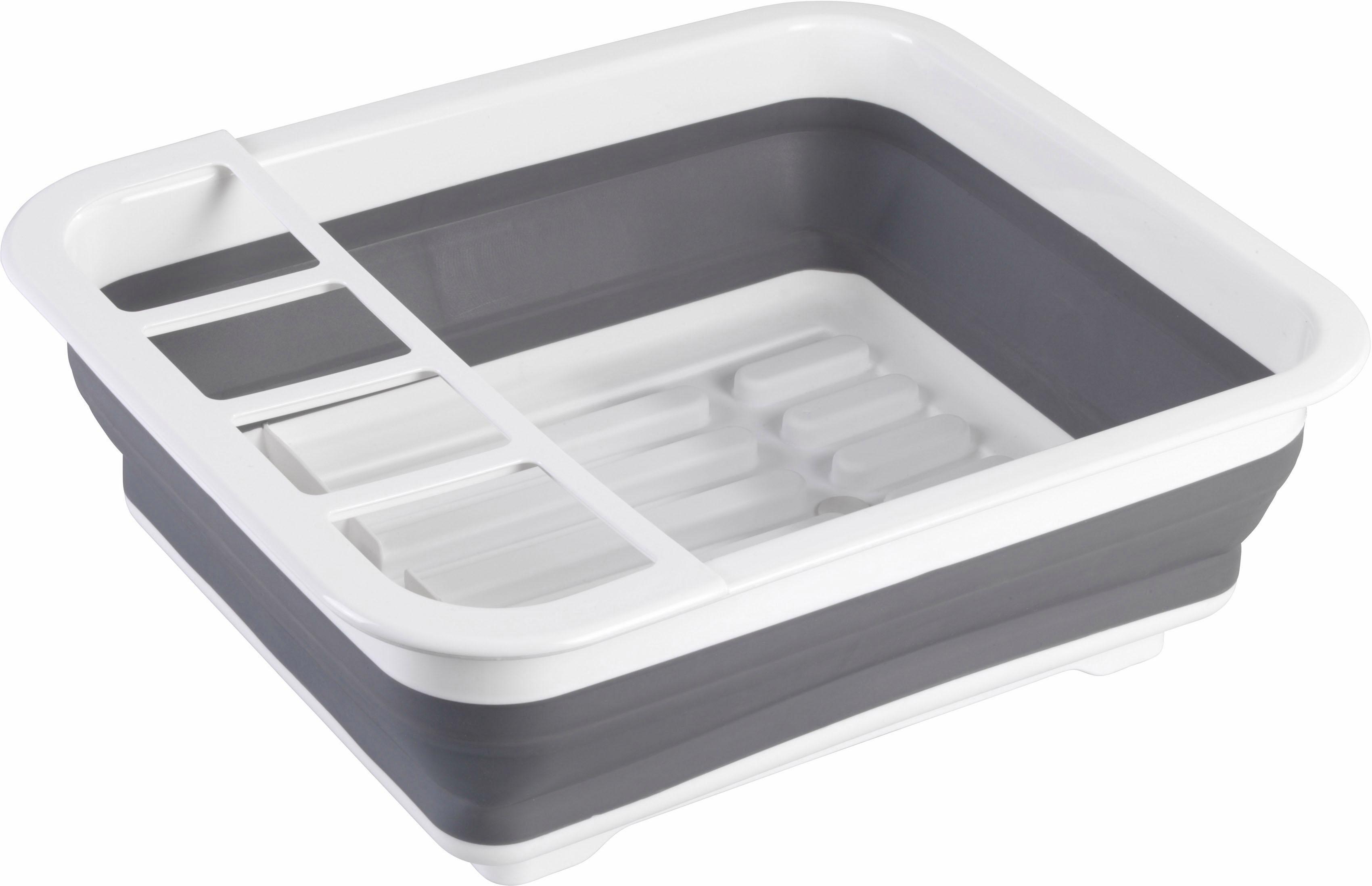 WENKO Geschirrständer grau Abtropfgestelle Küchenhelfer Haushaltswaren