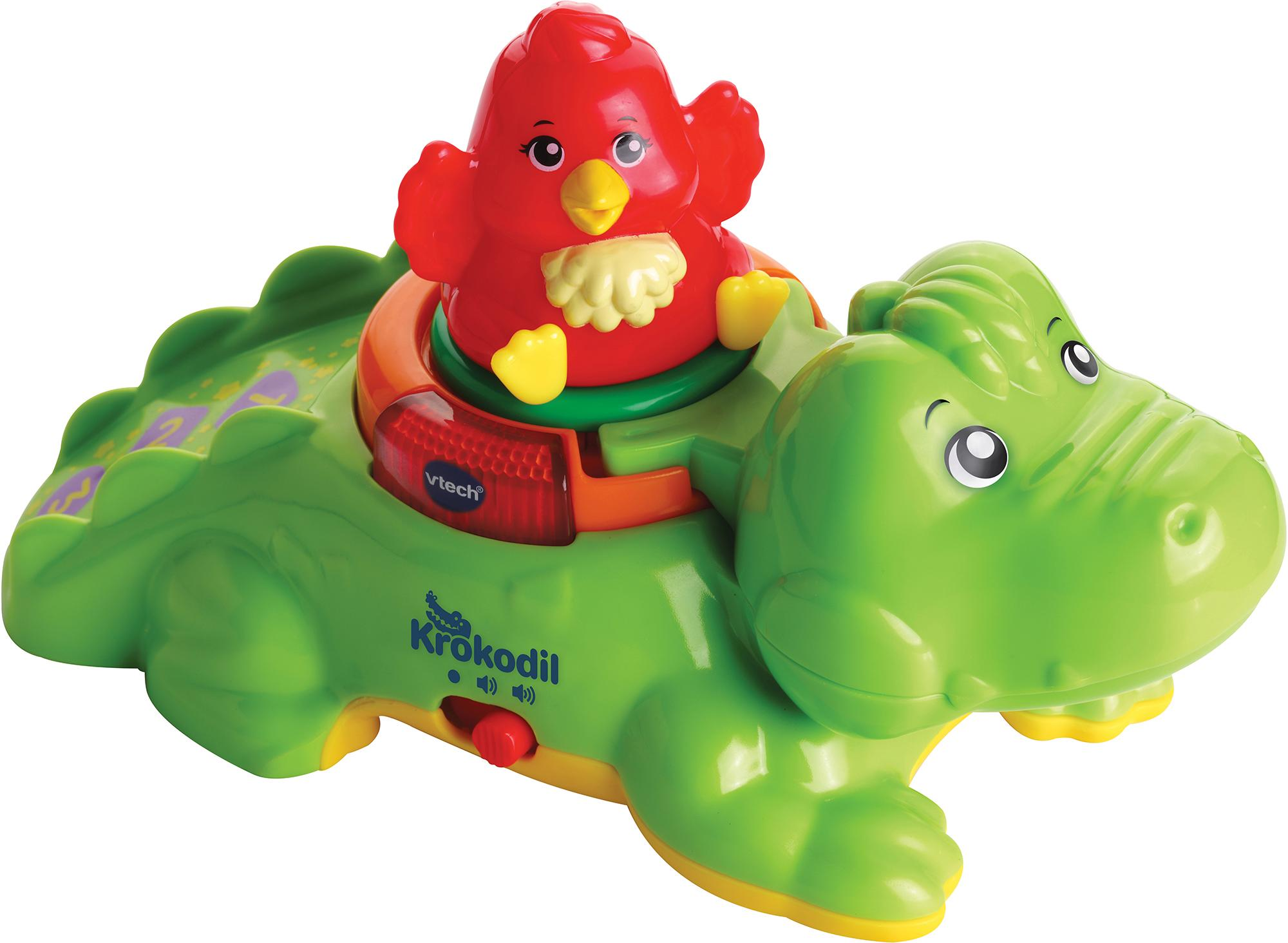 "Vtech Steckspielzeug ""ZoomiZooz - Huckepack-Krokodil"" Technik & Freizeit/Spielzeug/Baby & Kleinkind/Steck- & Stapelspielzeug"