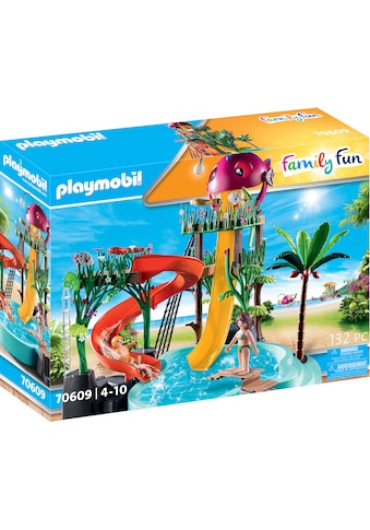 Playmobil® Konstruktions-Spielset »Aqua Park mit Rutschen (70609), Family Fun«, Made in Germany; mit funktionsfähiger Free-Fall-Rutsche kaufen