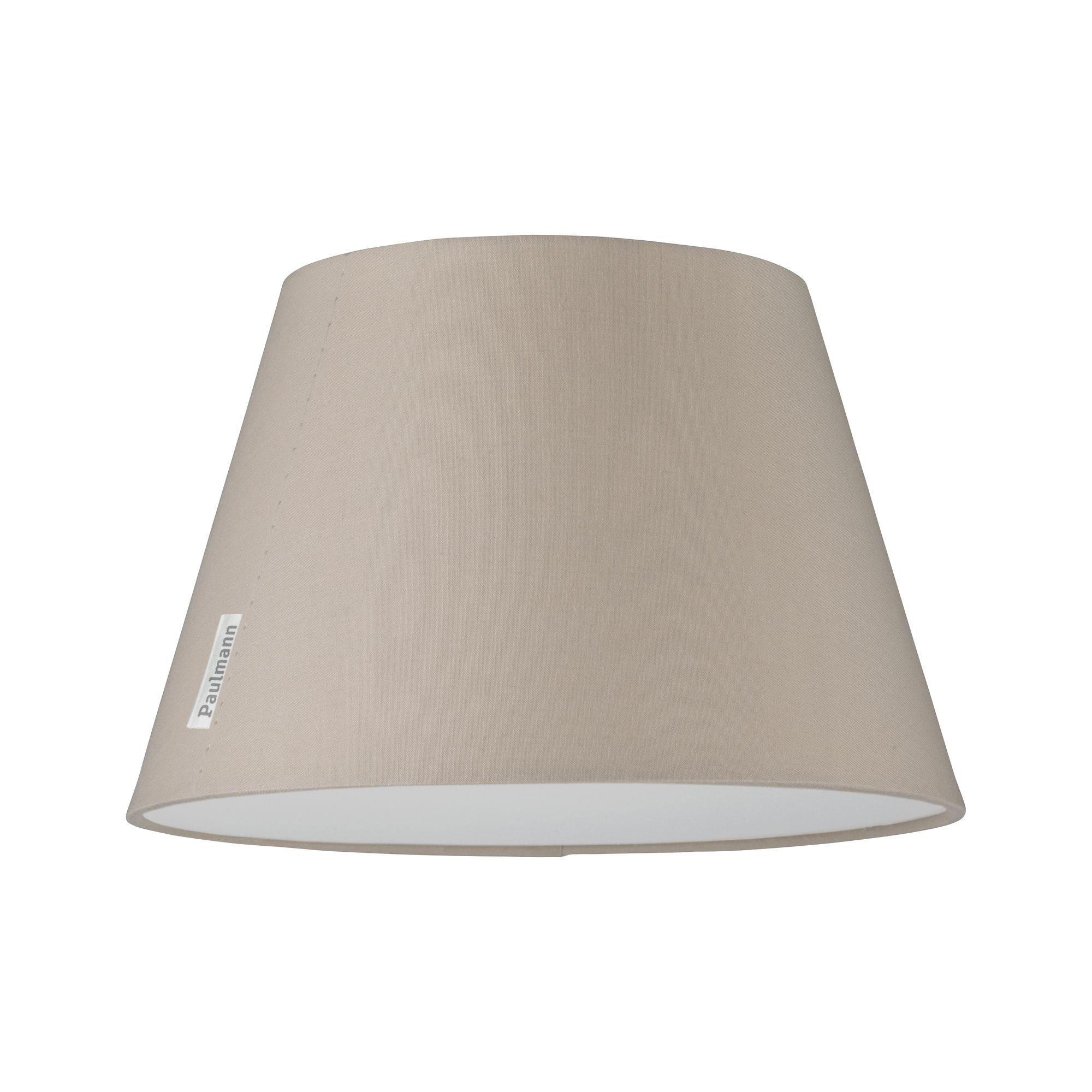 Paulmann,LED Deckenleuchte Mea Beige mit Stoffschirm Durchmesser 25 cm max. 20W E14