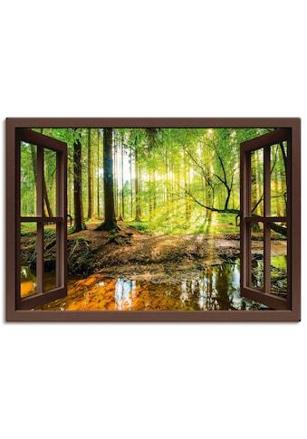 Artland Wandbild »Fensterblick  -  Wald mit Bach« kaufen
