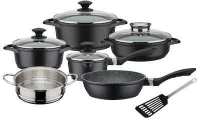 GSW Topf-Set »Gourmet Granit«, Aluminiumguss, (Set, 11 tlg.), Induktion kaufen