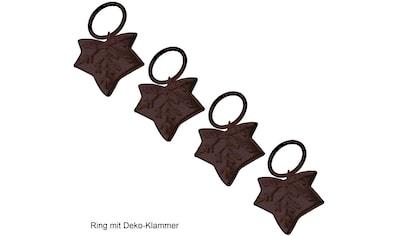 Liedeco Gardinenring »Blatt«, (Packung, 4 St., mit Dekoklammer), für Gardinenstangen Ø... kaufen