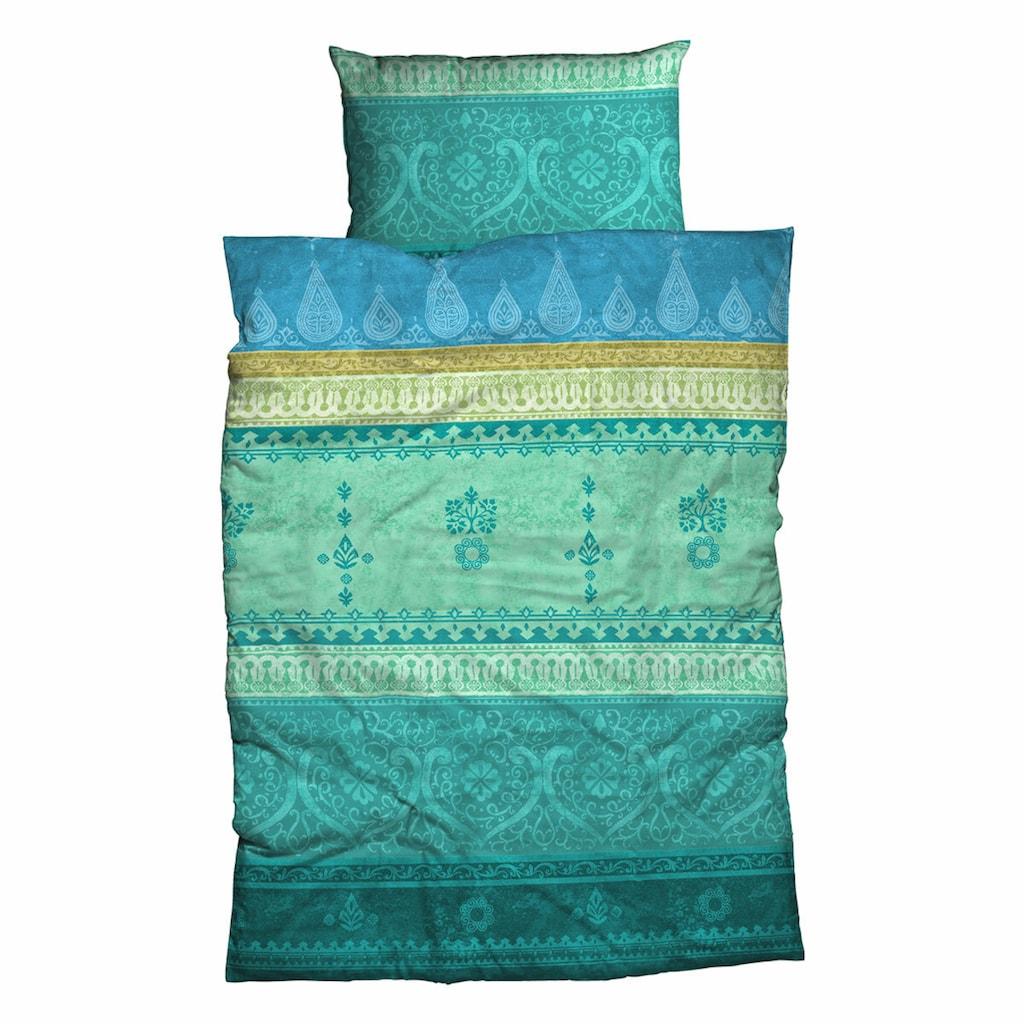 TRAUMSCHLAF Bettwäsche »Indisatin«, edle zart glänzende Ganzjahresbettwäsche