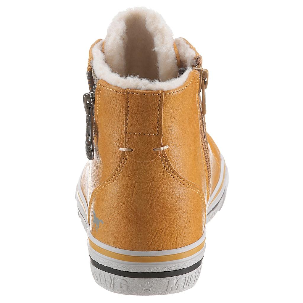 Mustang Shoes Winterboots, mit seitlichen Zierreißverschluss