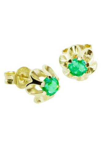 OSTSEE-SCHMUCK Paar Ohrstecker »- Pia - Gold 333/000 - sy. Smaragd«, (2 tlg.) kaufen