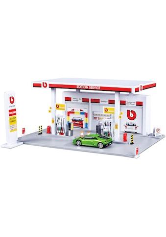 Bburago Spiel-Gebäude »StreetFire Tankstelle«, inklusive 1 Fahrzeug kaufen