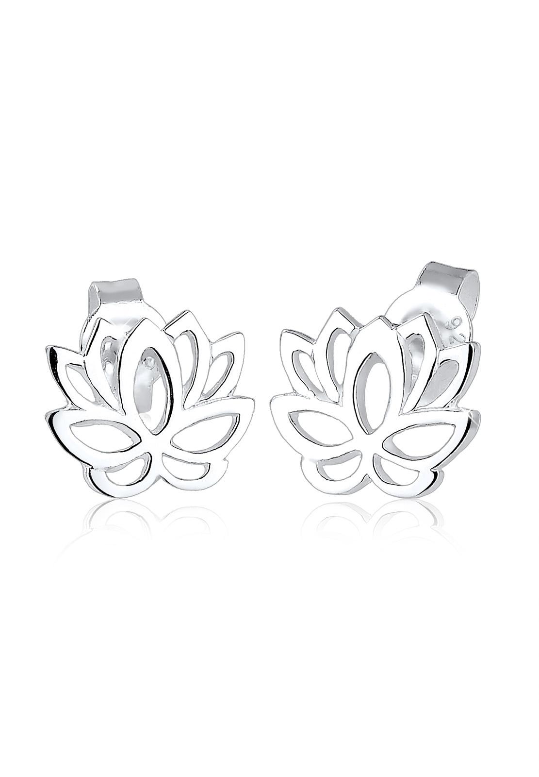 Elli Paar Ohrstecker Lotusblume Blüte Lotus 925 Silber | Schmuck > Ohrschmuck & Ohrringe > Ohrstecker | Elli