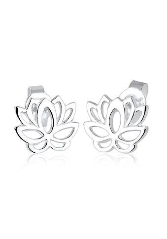 Elli Paar Ohrstecker »Lotusblume Blüte Lotus 925 Silber« kaufen