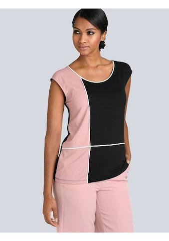 Alba Moda Shirt in Kontrastfarben gearbeitet kaufen