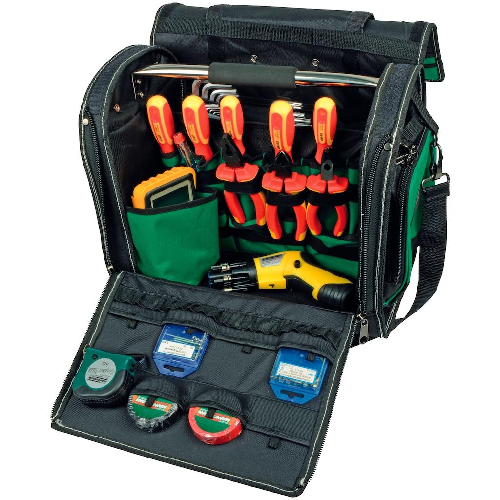 Brüder Mannesmann Werkzeuge Werkzeugtrolley, 5 Fächer, 36x25x44 cm