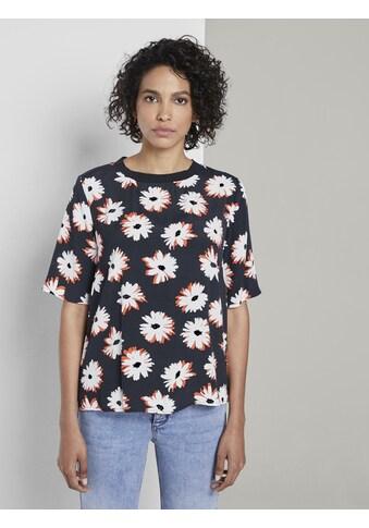 TOM TAILOR mine to five Blusentop »T - Shirt mit Blumenmuster« kaufen