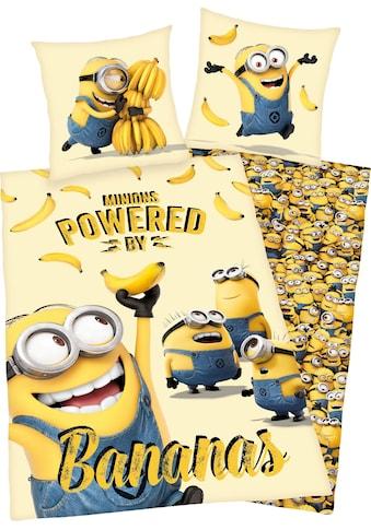 Minions Kinderbettwäsche »Minions«, mit Schriftzug kaufen