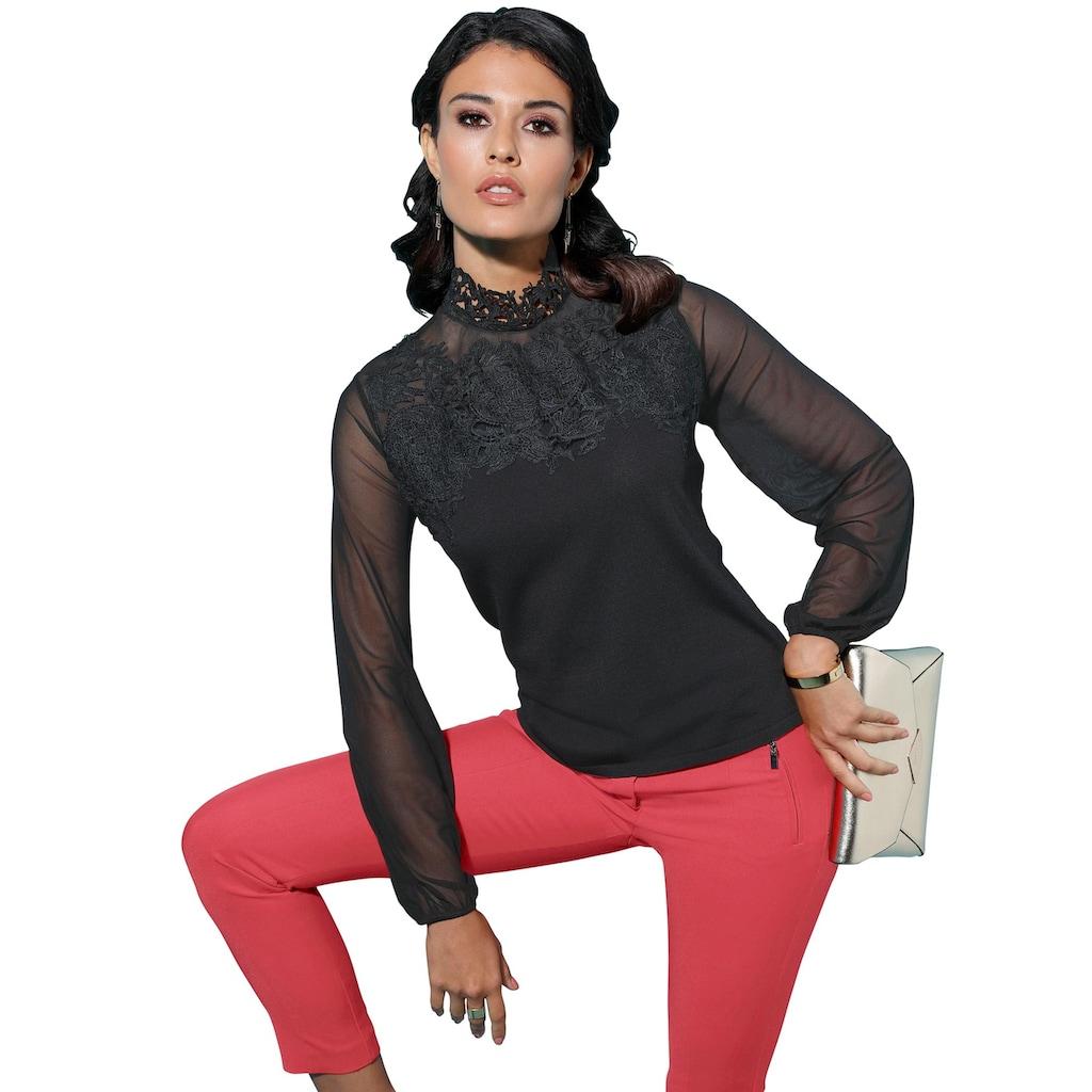 creation L Stehkragenpullover »Pullover«