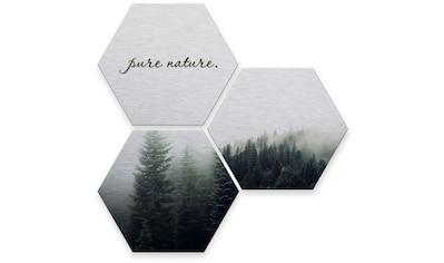 Wall-Art Mehrteilige Bilder »Silber Effekt Pure Nature Wald«, (Set, 3 St.) kaufen