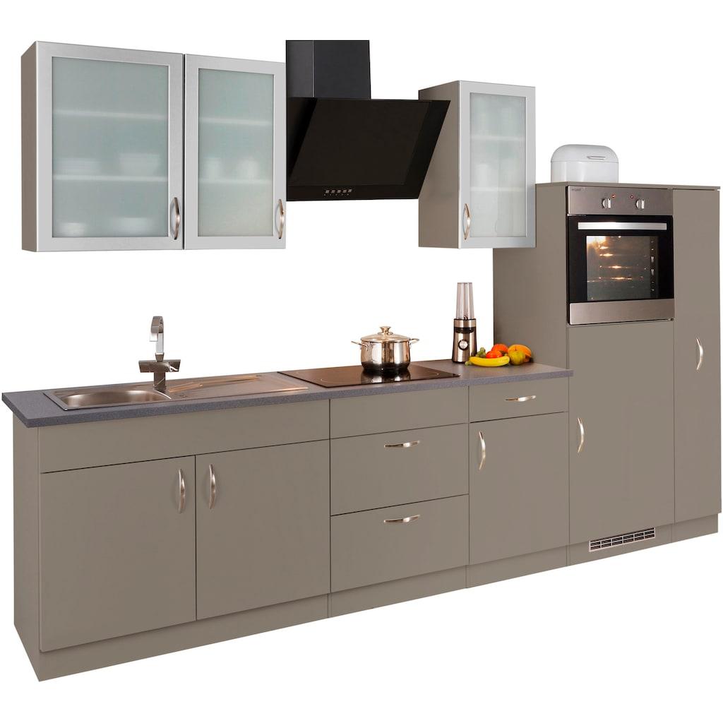 wiho Küchen Küchenzeile »Peru«, mit E-Geräten, Breite 270 cm