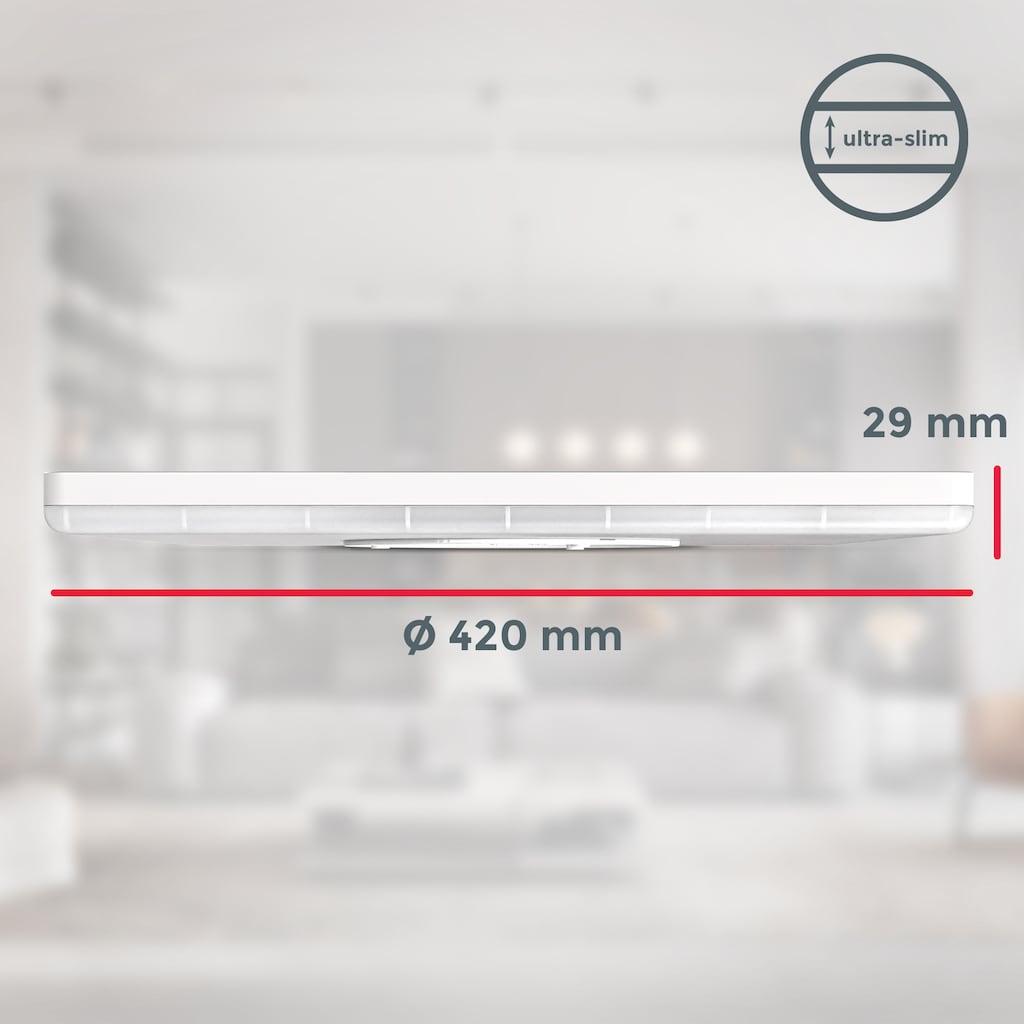 B.K.Licht Panel, LED-Modul, 1 St., Neutralweiß, LED Deckenleuchte 22 Watt 420x420x29mm Dimmbar Ultra Flach indirektes Licht Memoryfunktion neutralweiße Lichtfarbe 3.000lm Deckenlampe