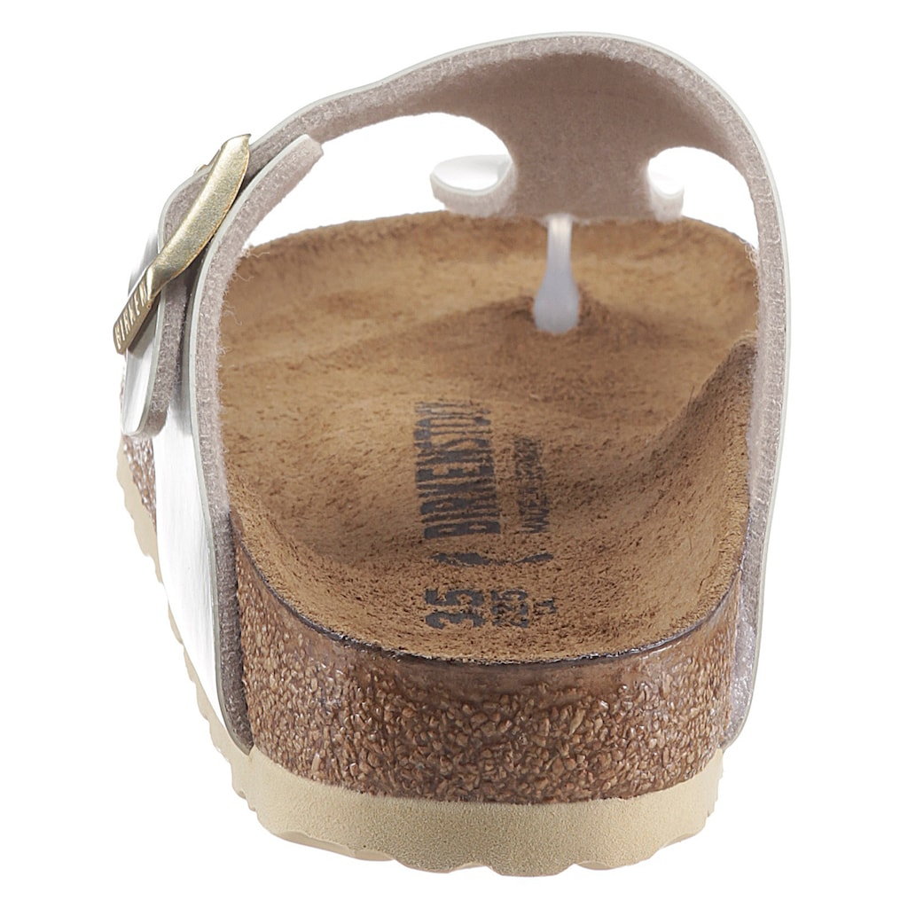 Birkenstock Zehentrenner »Gizeh Inspired Electric Metallic«, in Schuhweite: schmal