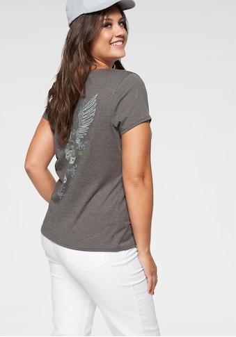 Arizona V-Shirt »Rückenprint mit Straßsteinen« kaufen