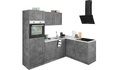 wiho Küchen Winkelküche »Cali«, mit E-Geräten, Stellbreite 230 x 170 cm kaufen