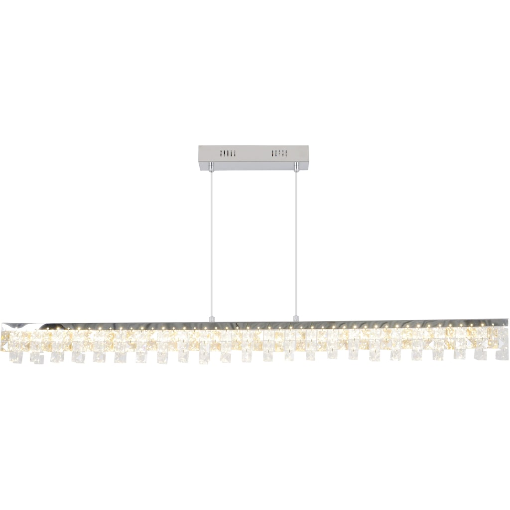 näve LED Pendelleuchte »Diamonds«, LED-Board, 1 St., Warmweiß, LED Hängelampe, LED Hängeleuchte