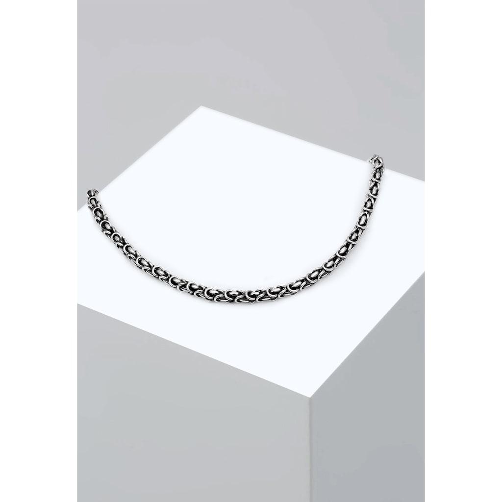 Kuzzoi Silberkette »Herrenschmuck Gliederkette Oxidiert 925 Silber«
